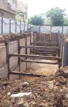 פרוייקט מבנה תת קרקעי בנהריה לחנייה ולמבנים
